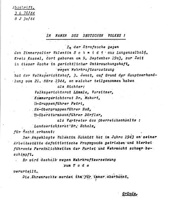 """Der """"Volksgerichtshof"""" hat mal wieder gemordet!"""